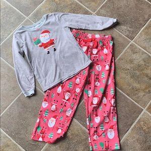 Carters Christmas Santa pajamas size 7